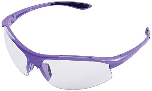 ERB Safety Products 18624 Ella Safety Glasses, Anti Scratch Clear Lens, 9.625