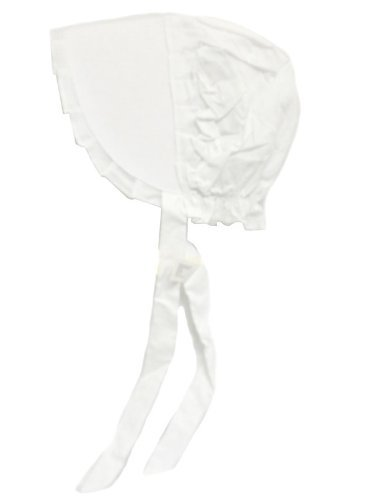 Edwardian Costumes – Cheap Halloween Costumes White Bonnet Large Size by Americana $10.99 AT vintagedancer.com
