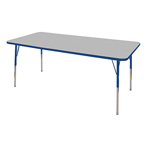 Norwood Commercial Furniture  Adjustable-Height Rectangle Activity Table, 72