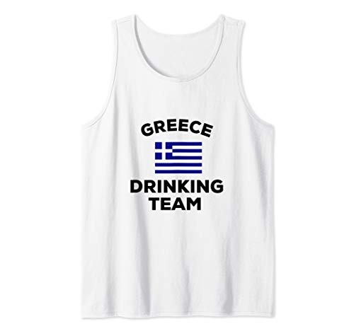 Funny Greece Drinking Team Beer Drunk Greek Flag Party Gift Tank Top