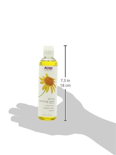 NOW Arnica Warming Relief Massage Oil,8-Ounce
