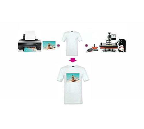 50 Sheets A4 Inkjet Heat Iron On Transfer Paper for Light Color Fabrics,Shipping from US