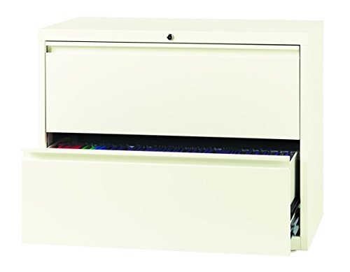 Office Dimensions Commercial 2-Drawer Lateral File with Full Width Pull, 36-Inch Wide - Cloud (Cabinet File Dimensions Lateral)