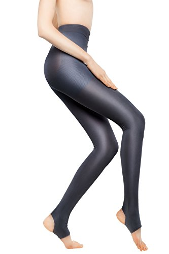 +MD 15-20mmHg Women's Open Toe Compression Pantyhose Stirrup Medical Quality Compressive Stocking Darkgray