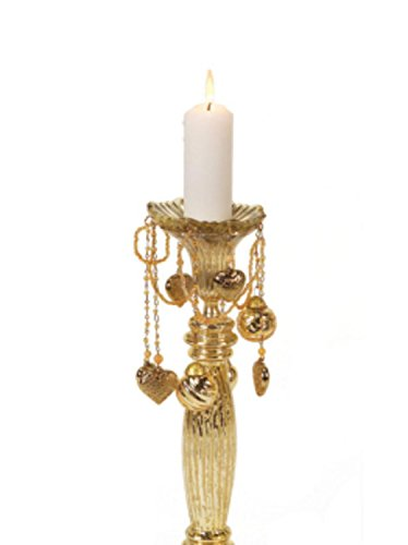 """CC Christmas 6.5"""" Antique Gold Glass Bobeche Candle Ring ..."""