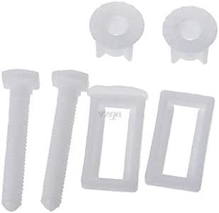 DealMux rectangulares en forma de asiento de inodoro bisagra tornillos Tuercas herramienta de la reparaci/ón 2pcs