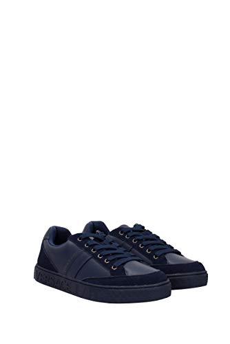 Jeans Sneakers EU Cuir E0YSBSF370744 Bleu Homme Versace fxqwdC4n4