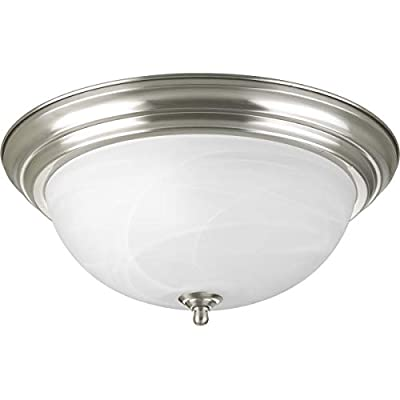 Progress Lighting P3926-09ET Traditional Three Light Close-to-Ceiling Collection in Pwt, Nckl, B/S, Slvr. Finish, Brushed Nickel