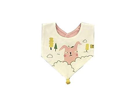 Toalla babero babero impermeable para bebés y niños pequeños de la historieta de la toalla de la saliva del bebé de la historieta Baberos infantiles: ...