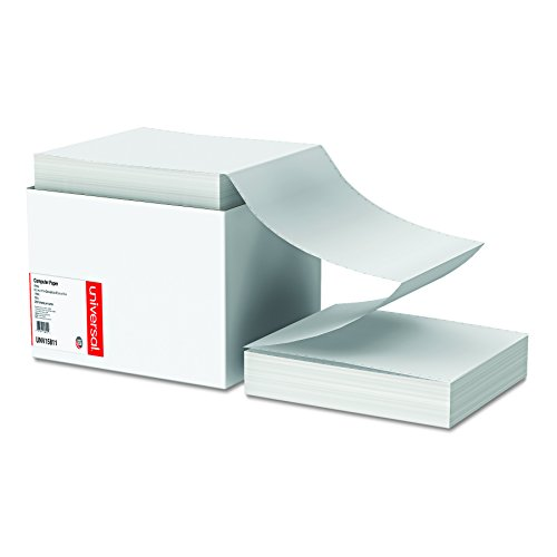 Universal 15811 Computer Paper, 18lb, 9-1/2 x 11, Letter Trim Perforations, White, 2300 Sheets ()