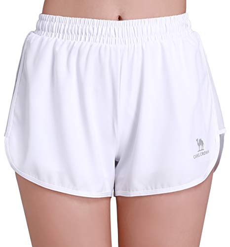 Camel Crown Women's Gym Running Shorts 2 in 1 Quick Dry 3