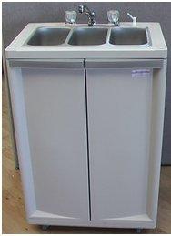 Three Compact Basins Portable Sink - PSE-2003T