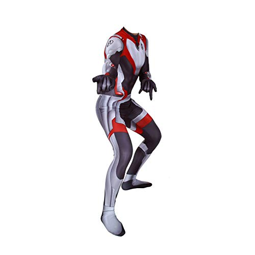 Unisex Lycra Spandex Zentai Halloween Avengers Endgame Quantum shirt Cosplay Costumes Adult/Kids 3D Style (Custome-Size) Black and -