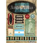 Scrapbook Customs - World Collection - Argentina - Cardstock Stickers - - Collection Argentina