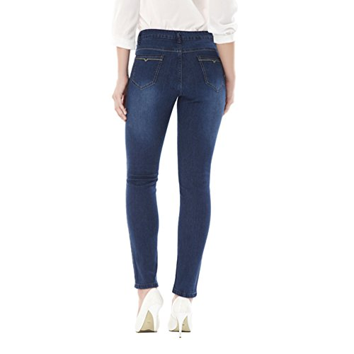 Up Elasticizzati Plus Fit Yuandian Alta Jeans Autunno Denim Pantaloni Leggings Blu Skinny Slim Vita Caviglia Moda Push Donna Alla Size Causal qqgz81