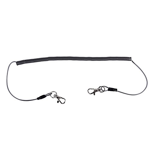 Alomejor Safety Stainless Steel Wire Fishing Lanyard, Durable Retractable Heavy Duty Lanyard With Carabiner for Mountaineering by Alomejor (Image #2)