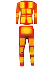 CYzpf Heated Underwear Thermal Set 20 Areas Heating USB Rechargeable Winter Warm T-Shirt & Pants Apparel for Men's & Women's