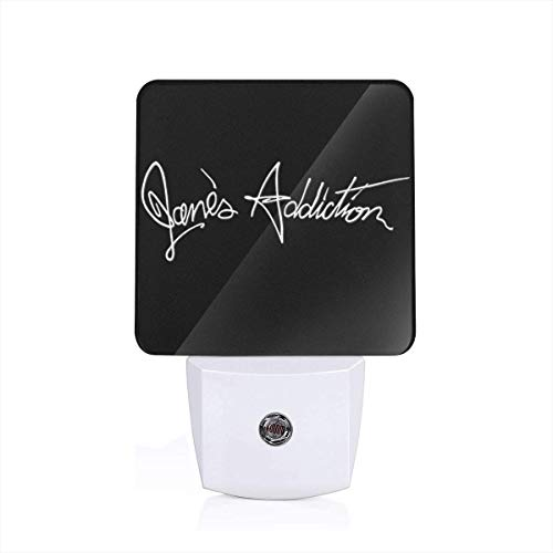 HAWNFERK Jane's Addiction Night Light Lamp with Dusk to Dawn Sensor, Plug in, Led Night Light