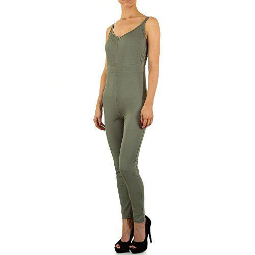 Jumpsuit Overall Für Damen , Khaki In Gr. M bei Ital-Design