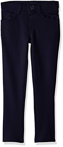 U.S. Polo Assn. Girls' Big Pull-On Ponte Knit Skinny Fit Pant, Navy, 7