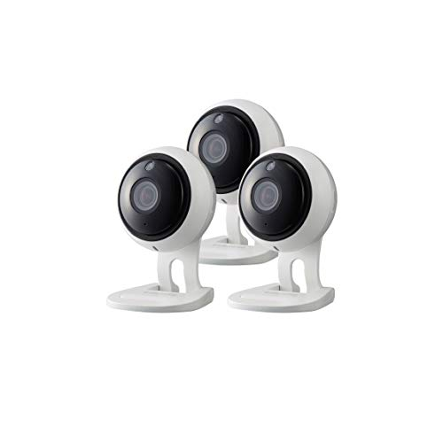 Samsung Wisenet SNH-V6431BN SmartCam 1080p Full HD Wi-Fi Indoor IP Camera Three Pack (Renewed)