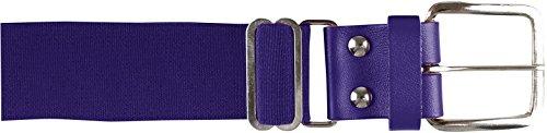 CHAMPRO Leather Baseball Belt, Purple, 1-1/4