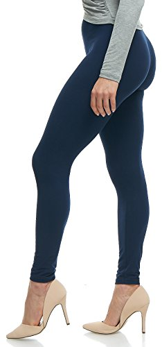 Lush Moda Extra Soft Leggings - Variety of Colors - Navy ()
