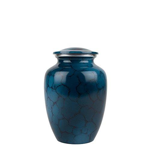 Perfect Memorials Medium Washed Denim Brushed Cremation Urn