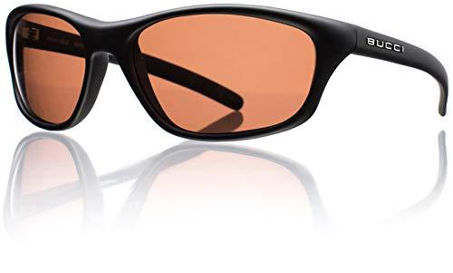 Bucci Sunglasses Velocity Black Matte Polycarbonate Polarized (Rose Polarized ()
