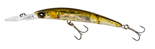 Yo-Zuri Crystal 3D Minnow Deep Diver Jointed Floating Lure, Holographic Ayu, 5 1/2-Inch