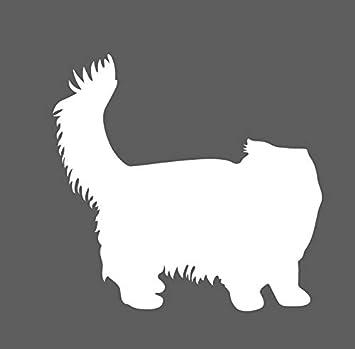 Persian White Cat Kitty Sticker
