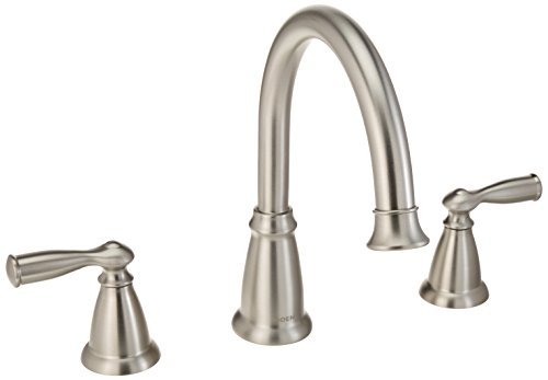 Moen 86924SRN Deck Mounted Roman Tub Faucet Trim from the Banbury Collection, Spot Resist Brushed Nickel ()