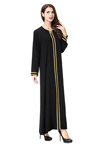AMLLY Muslim Kaftan Dubai Long Sleeve Dress For Women, used for sale  Delivered anywhere in USA