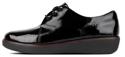 scarpe Donna in Fitflop Berretto nera con vernice Bz8xgq