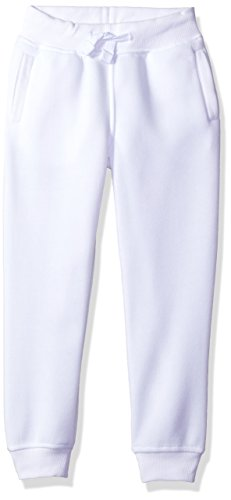 - Southpole Little Boys' Active Basic Jogger Fleece Pants, White, Large