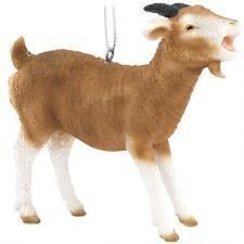 Goat Christmas Ornament.Brown Goat Animal Farm Billy Goat Christmas Tree Ornament