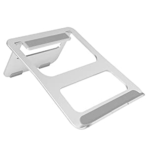 Fancy Buying Laptop Stand - Aluminum Cooling Computer Stand: [UPDATE VERSION] Stand, Holder for Apple Macbook Air, Macbook Pro, All Notebooks, Sliver for Laptops