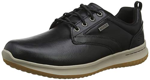 (Skechers Men's DELSON-Antigo Oxford, Black, 12 Medium US)