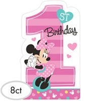 1st Birthday Minnie Mouse Invitations 8 count Party Supplies Minnie Fun to be One! -