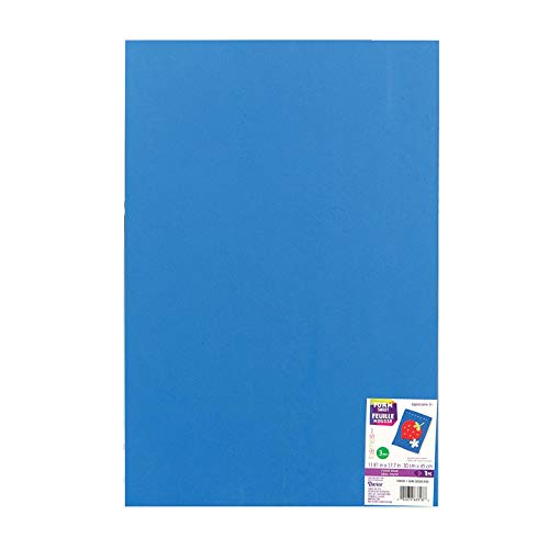 Bulk Buy: Darice Foamies Foam Sheet Royal Blue 3mm thick 12 x 18 inches (10-Pack) 1194-59