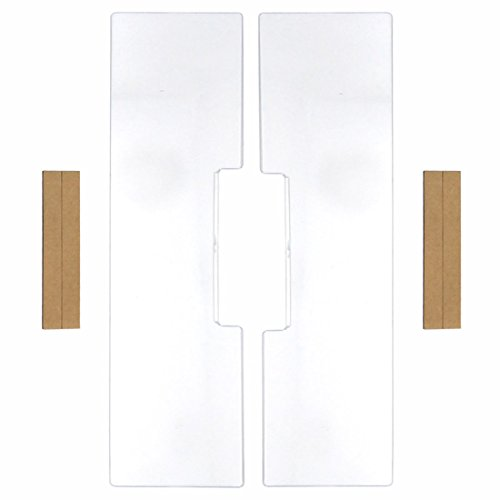 Left & Right Computer Monitors Screen Acrylic Message Boards Memo Pads (Pack of 2)