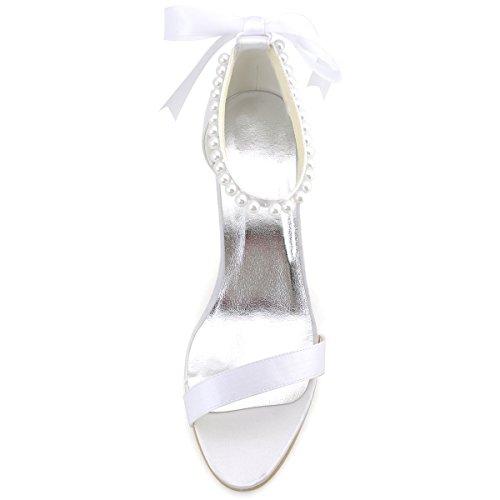 d72b17b5e 85%OFF ElegantPark EP11053 Women Sandals Perals Strap High Heels ...