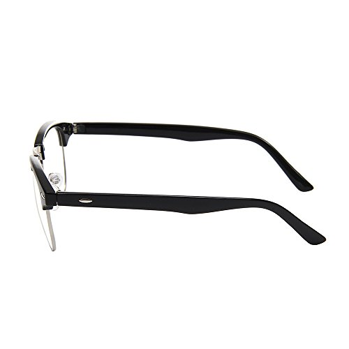 485b35586e Shiratori New Vintage Classic Half Frame Semi-Rimless Clear Lens Glasses …