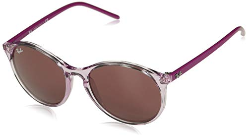 Ray-Ban RB4371 Round Sunglasses, Transparent Pink/Bordeaux, 55 mm (Cat Ray Bans)