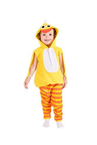 Toddlers Chick Costume Kids Unisex Cute Animal Yellow Bird Tunic - 1-2 Years