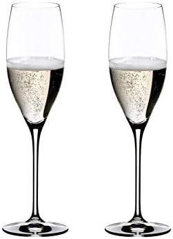 RIEDEL Cuvée Prestige Copa de Vino, Cristal, Multicolor, 14.7x7.4x22.7 cm, 2 Unidades
