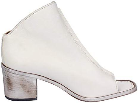 MOMA Stiefeletten Damen Leder weiß