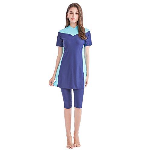 Tumon Bay Womens Modest Swimsuits 2 Pieces Muslim Swimwear Burkini Surfing Suit (Asia 4XL--US Size 14-16, ()