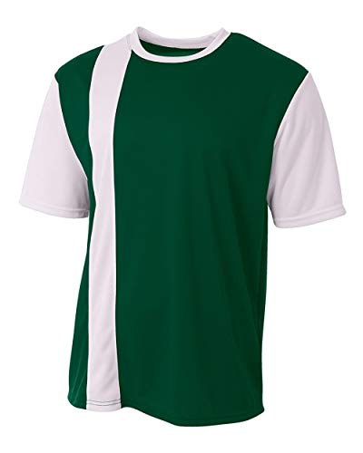 A4 Sportswear Forest/White Stripe Adult Medium Soccer Jersey