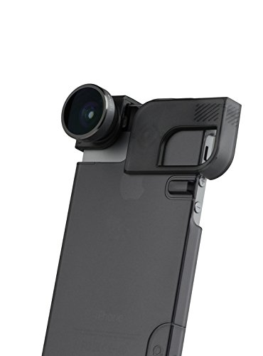olloclip 4-In-1 Lens and Quick-Flip Case for and Pro-Photo Adapter - iPhone 5/5s - Retail Packaging - Space Grey/Black Clip/Black Case
